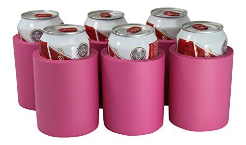 Can Coolers Non Collapsible Foam Beverage Can Insulators Set Of 6 Pink Glued Bottom With A Air Hole To Allow Can To Be Camp Kitchen Kitchen Board Beverage Can