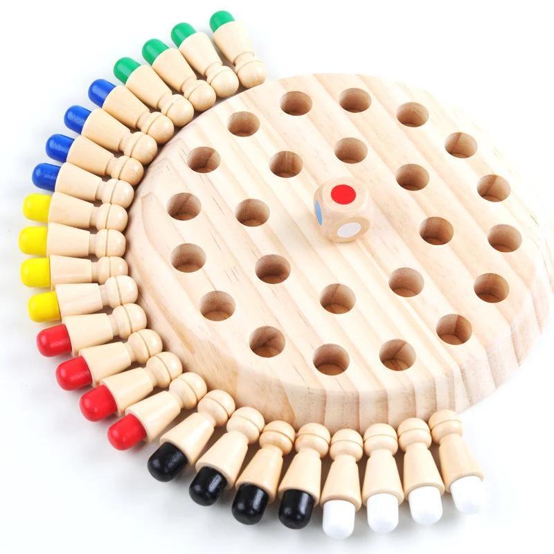 DE Holz Memory Match Stick Schachspiel Kinder Kinder Puzzle Lernspielzeug