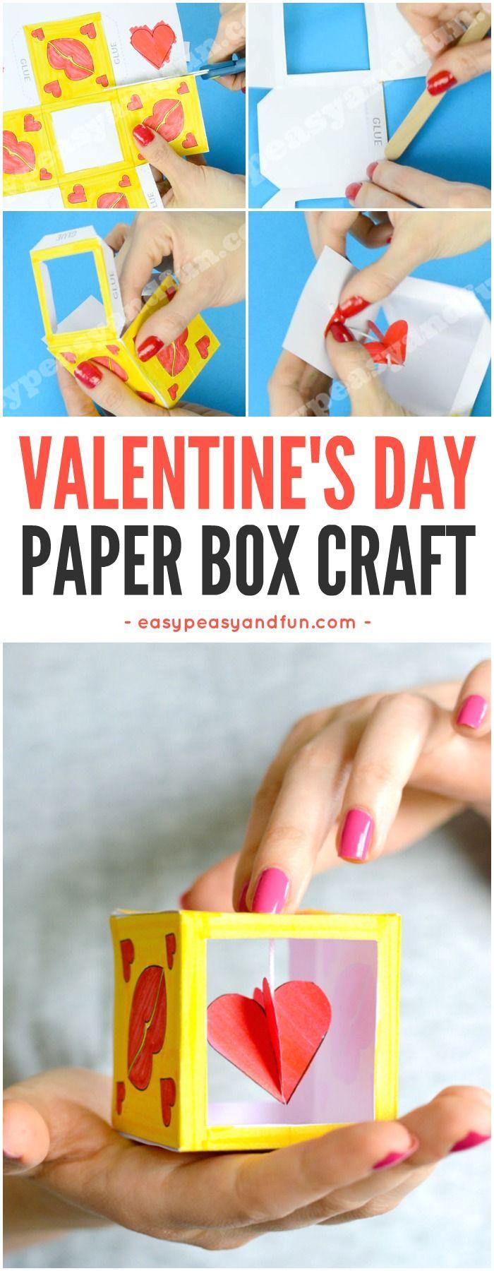 Heart Box Paper Craft | Kunstunterricht, Muttertag und Valentinstag