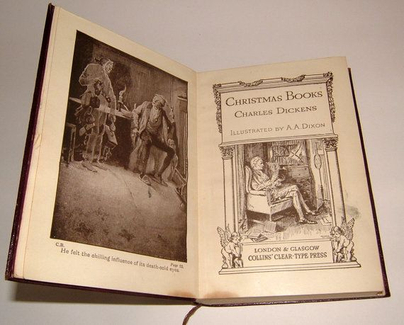 1920s Charles Dickens Christmas Books Illustrated by BiminiCricket, $150.00