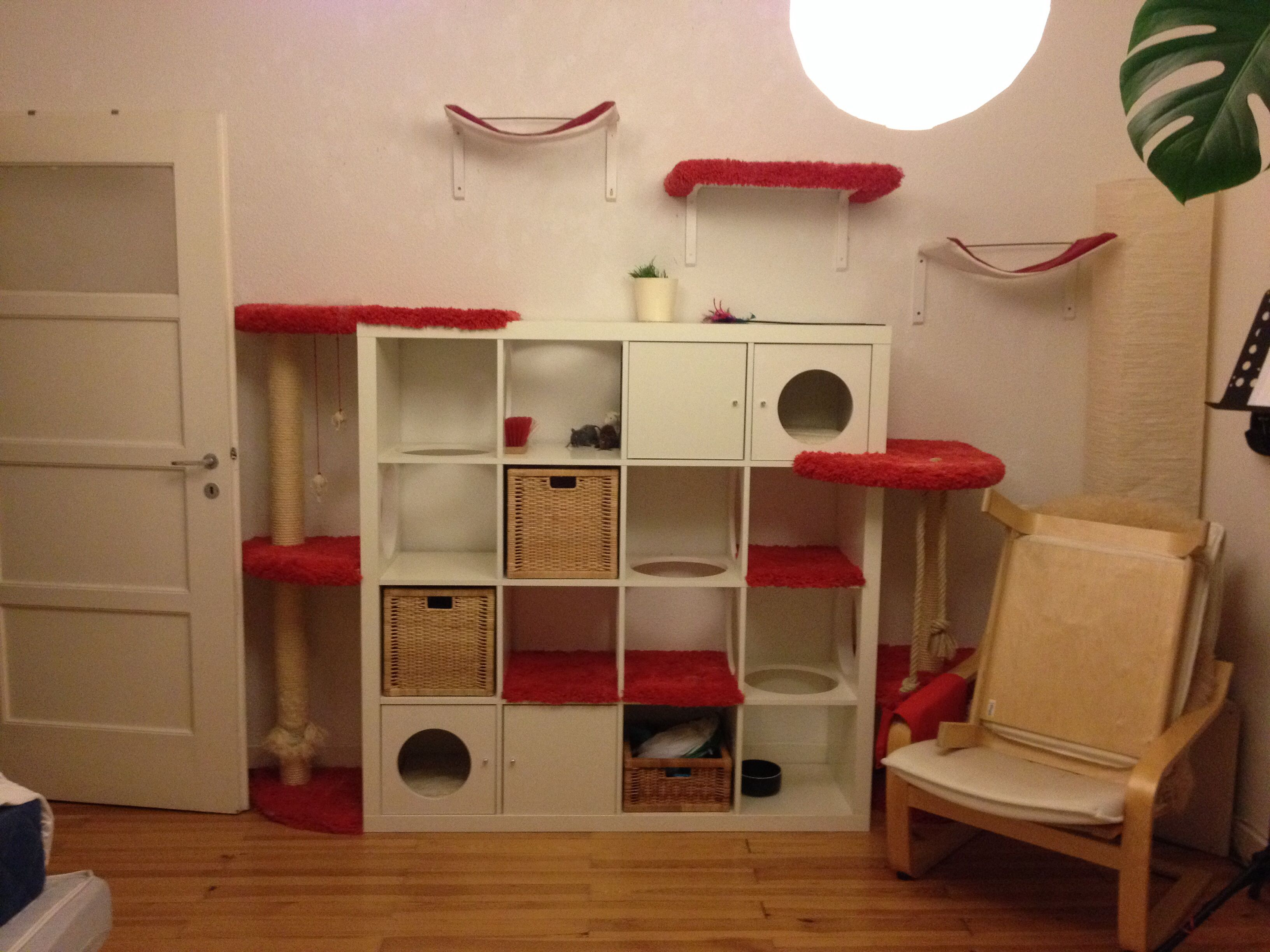 my very own ikea hack cat tree the boys love it katzen. Black Bedroom Furniture Sets. Home Design Ideas