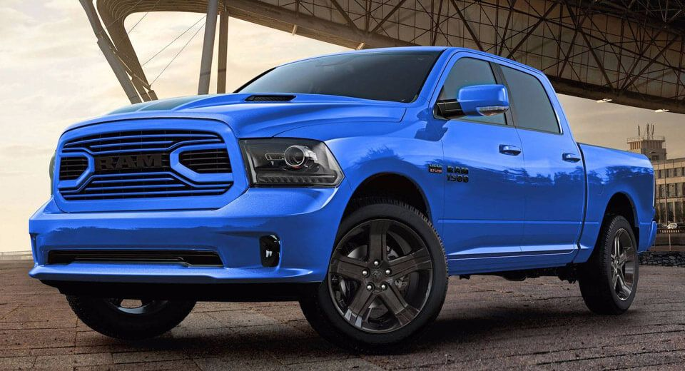 2018 Ram 1500 Hydro Blue Sport Edition Gets A Racy French