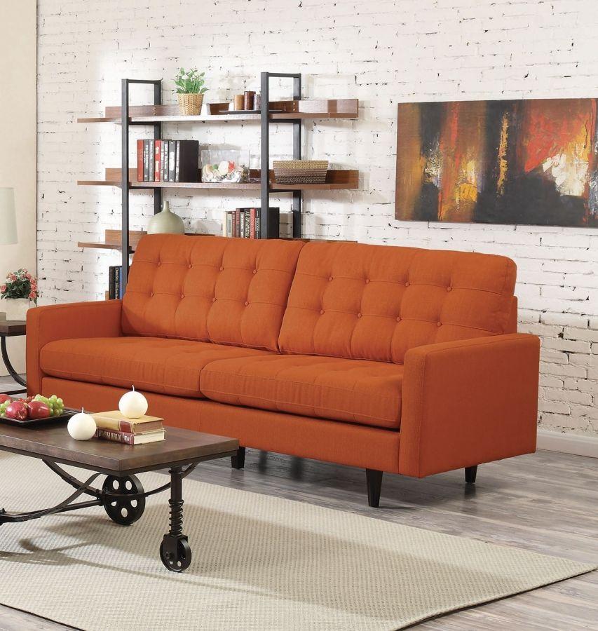 Coaster Furniture Kesson Orange Sofa | The Classy Home ...