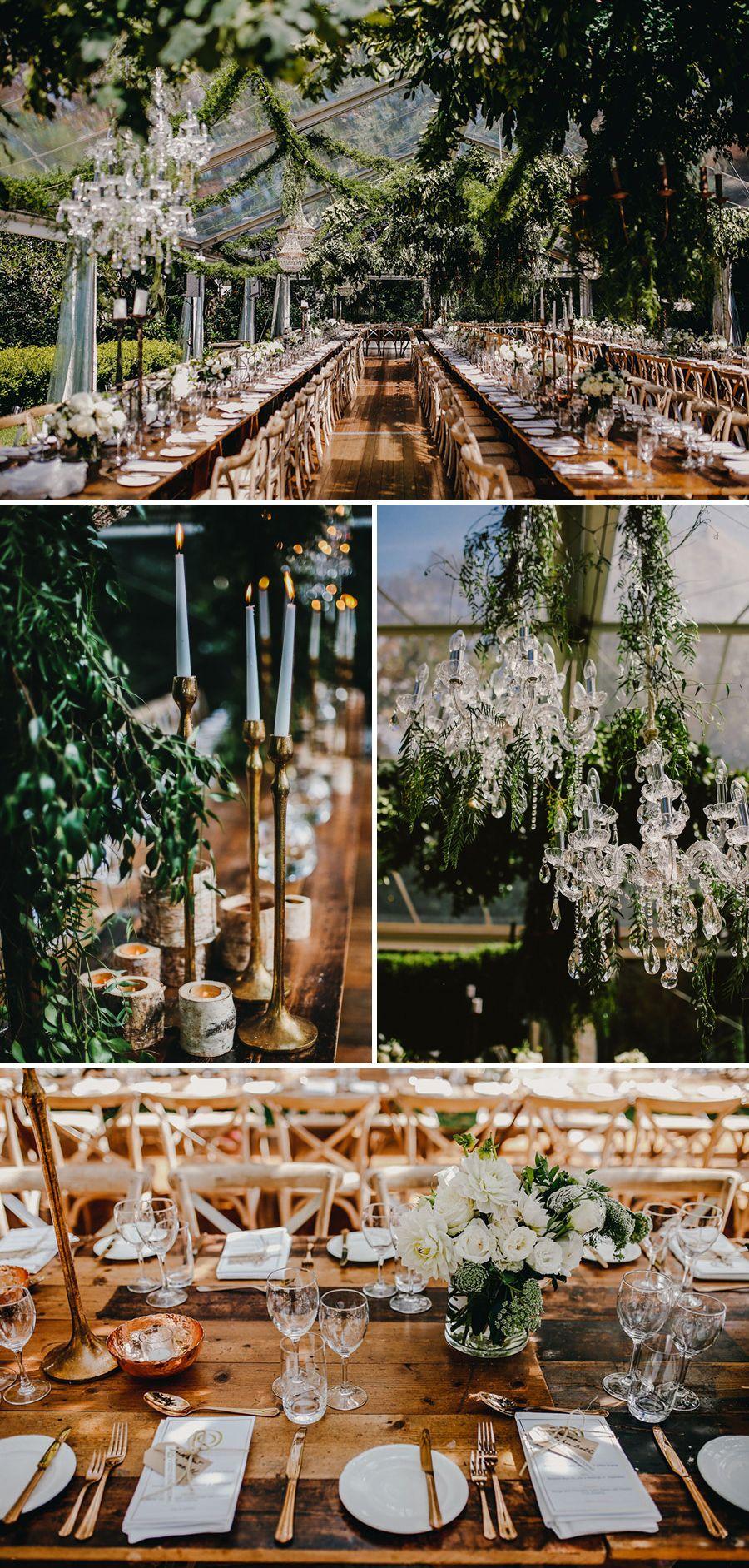 Celebrity brideu0027s enchanted garden themed wedding in a