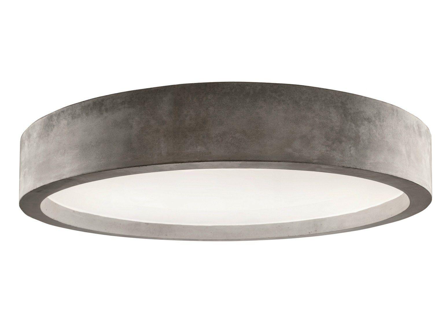 Led Lampen Direct : Direct light cement ceiling light zero ceiling light