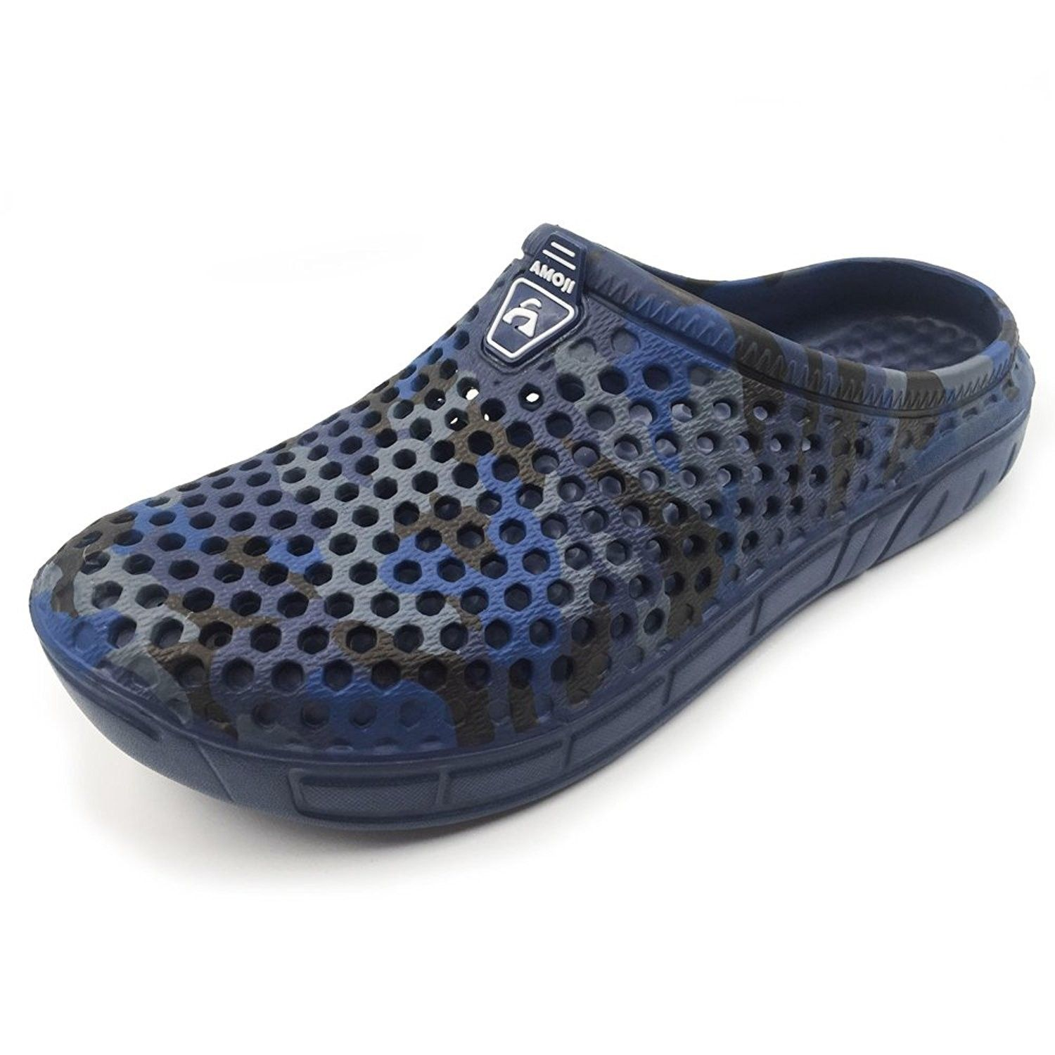 128f8fb0793315 Unisex Camouflage Slippers Clogs Sandals - Navy - CN1805TLKW6 ...