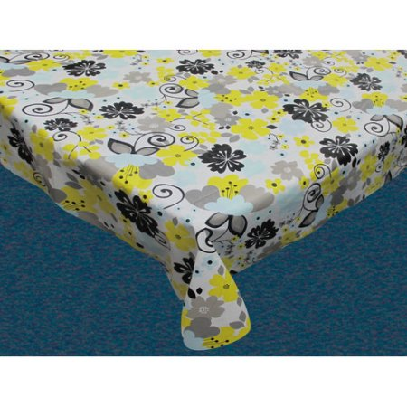 Carnation Home Fashions Inchretro Gardeninch 70 Inch Round Vinyl Flannel Backed Tablecloth Size 70 Inch Round Yellow Tablecloth Sizes Tablecloth Fabric Outdoor Tablecloth