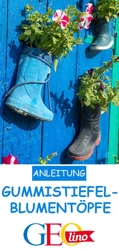 Blumen in Schuhen: So geht's! #gartenupcycling