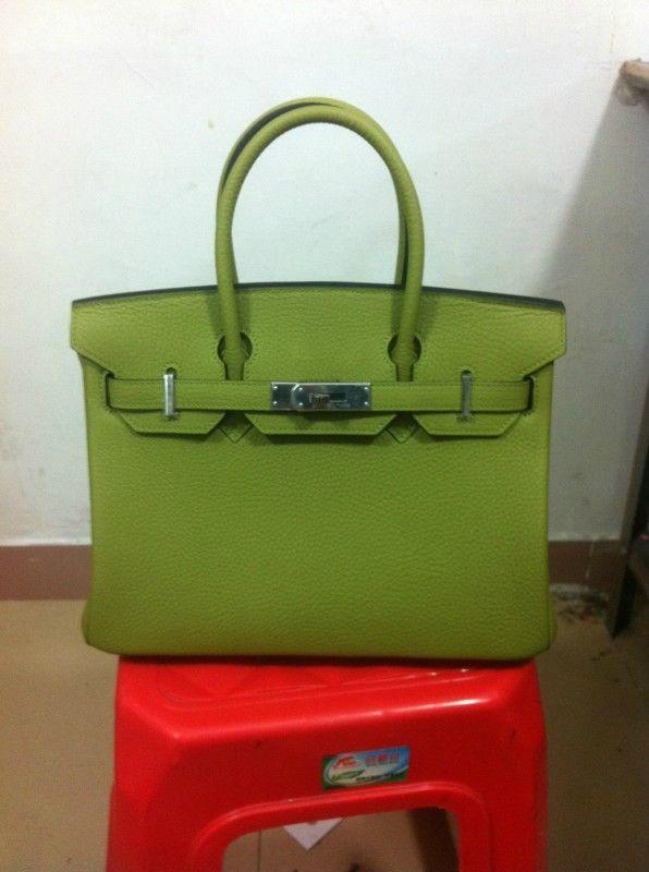 5b9ed910a70 ... bag original leather light yellow df307 3e185  discount hermes birkin  light green original togo leather. price usd 720.00 30dde 15aed