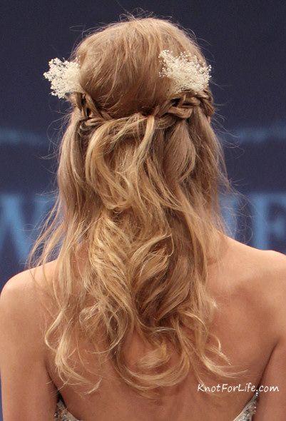 Wedding Hairstyles For Medium Hair Half Up Romantic