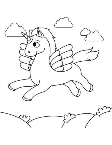 Alicorn Coloring Page Coloring Free Printable Coloring Pages