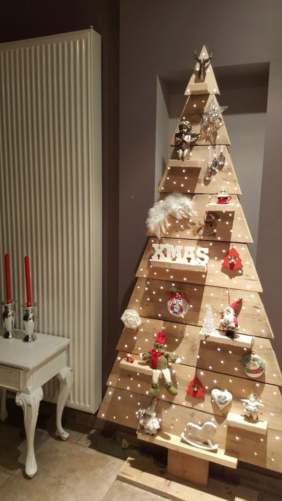 DIY Rustic Christmas Tree Decoration Ideas For Christmas Decoration