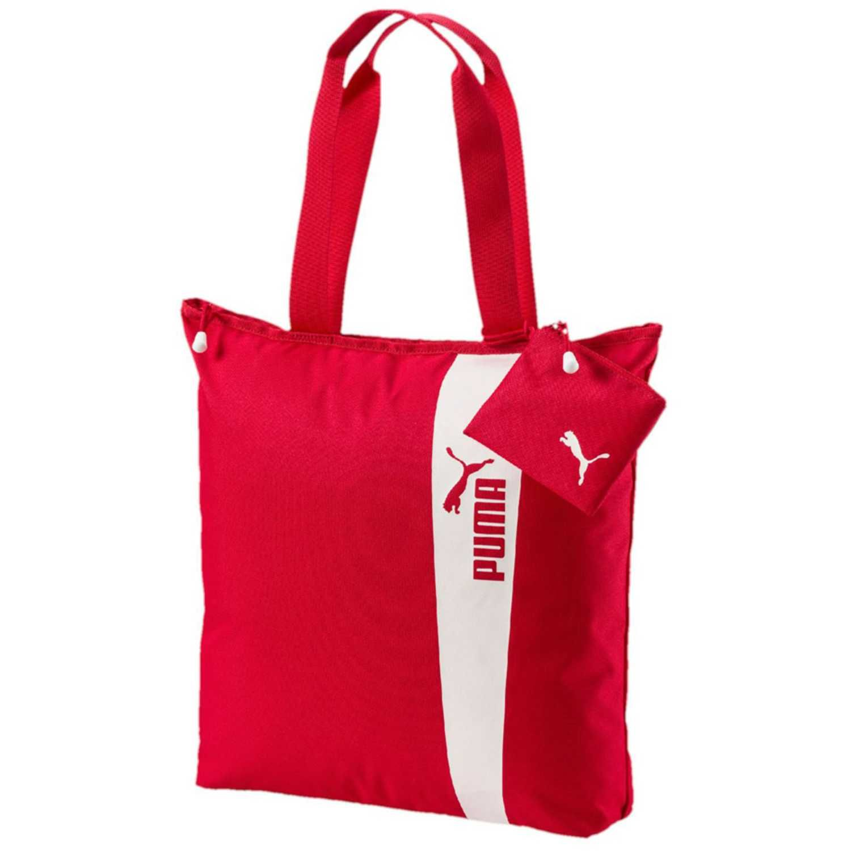 Mujer Shopper Style Bolso Carteras Y De Core Rojo Puma Blanco qxnwRA46