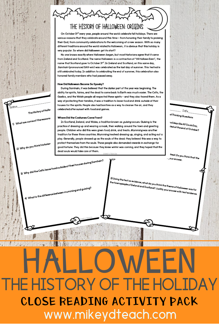 How Much Do Kids Know About Why And How Halloween Became A Holiday We All Know That Our S Reading Vocabulary Activities Close Reading Guided Reading Resources [ 1102 x 735 Pixel ]