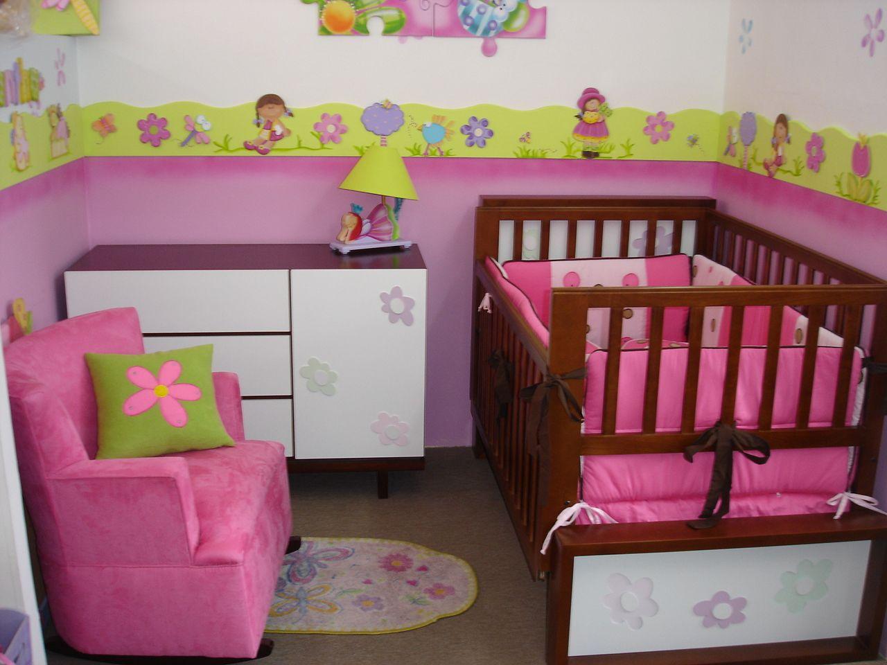 Modelo de habitaci n con camacuna recamaras de bebe pinterest modelo recamara y recamaras - Habitaciones bebes nina ...