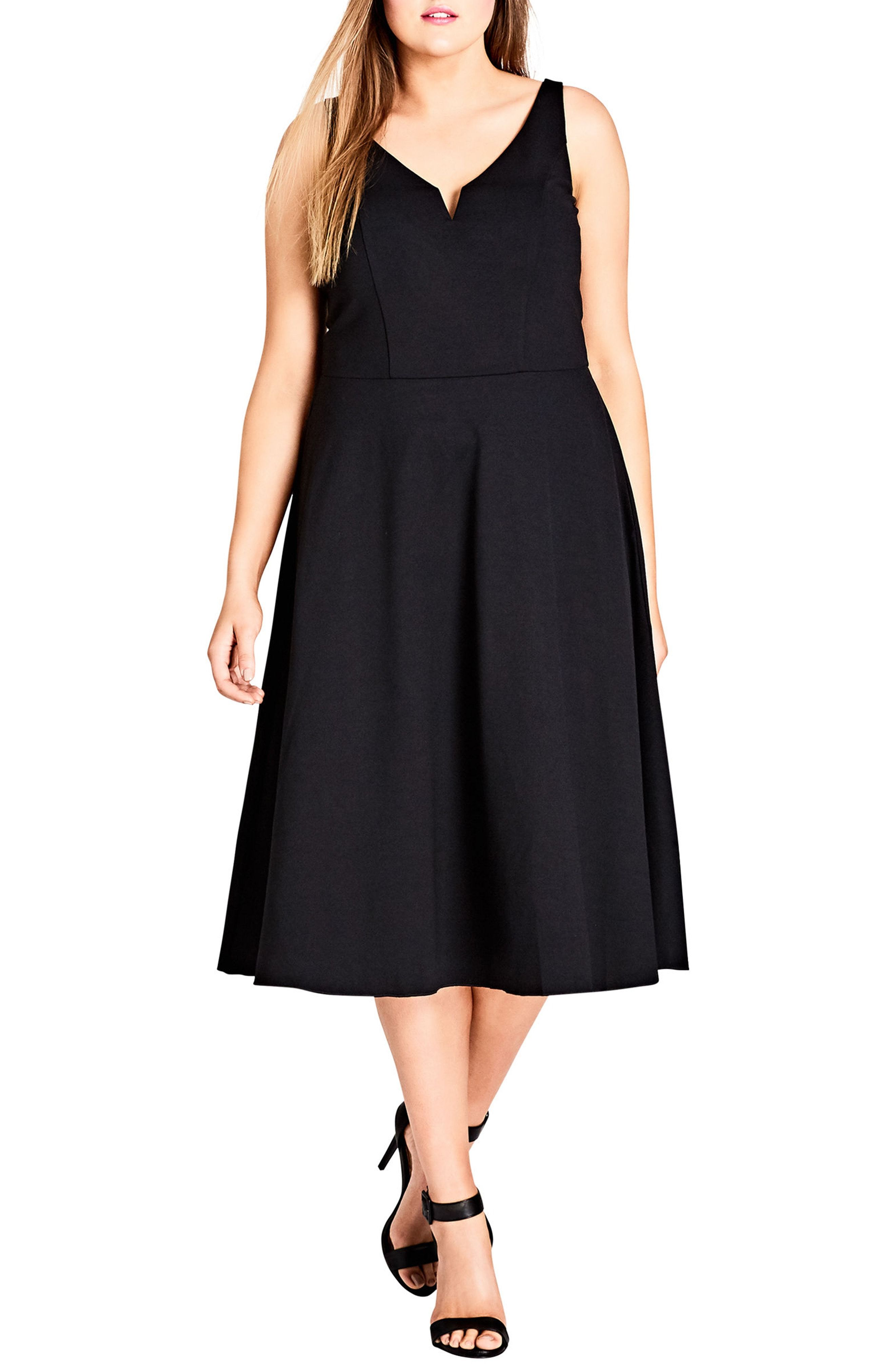 0dedc6837e City Chic Cute Girl Fit & Flare Midi Dress available at #Nordstrom ...