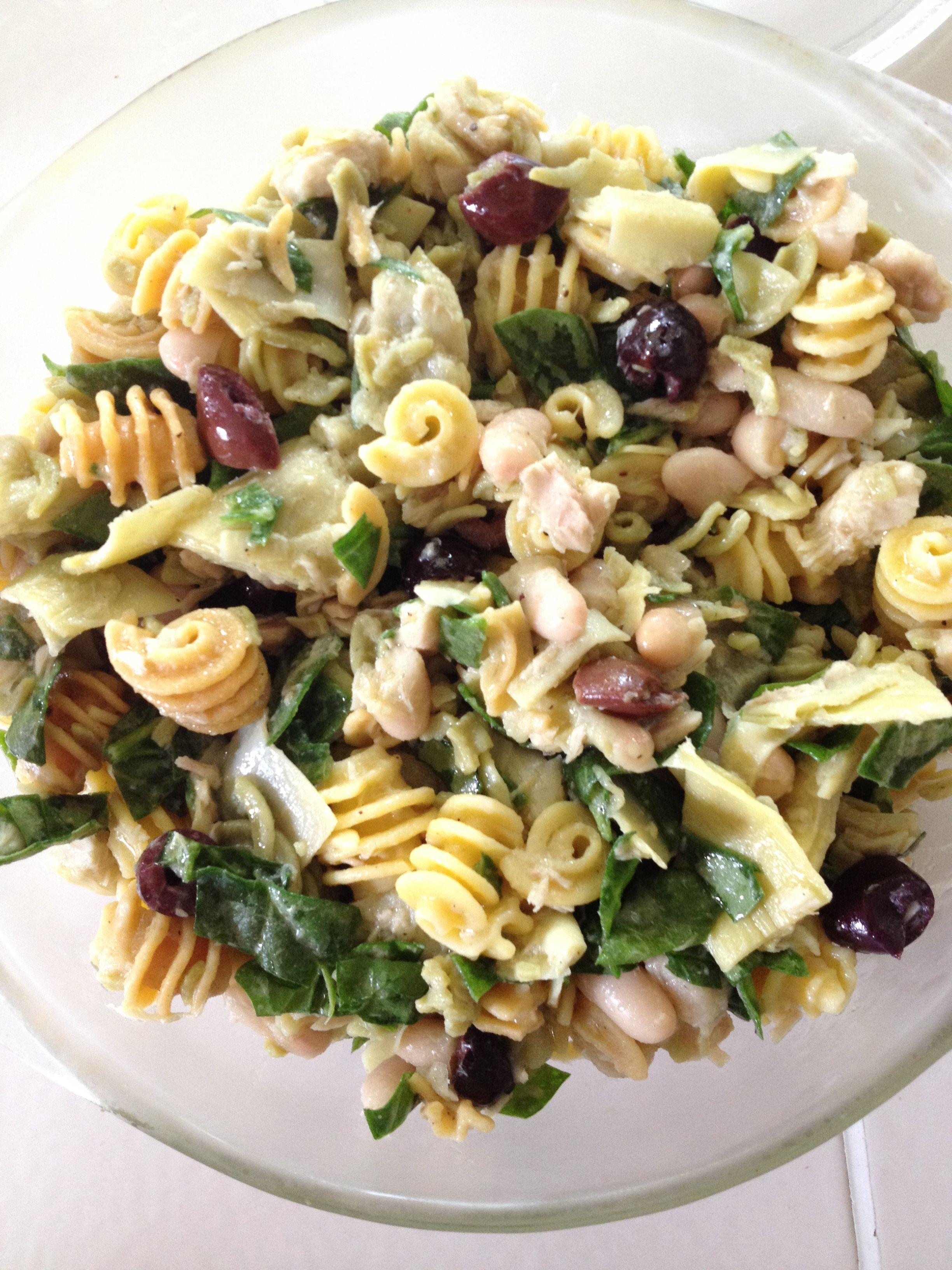 Greek gluten free pasta salad combine ancient harvest