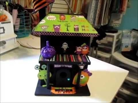 Altered Fall-Halloween Decorations Series  Part 3 - Altered Bird House