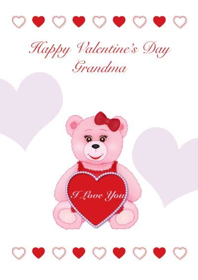 free printable valentines day card for grandma my free printable cards - Valentines Day Free Printable Cards