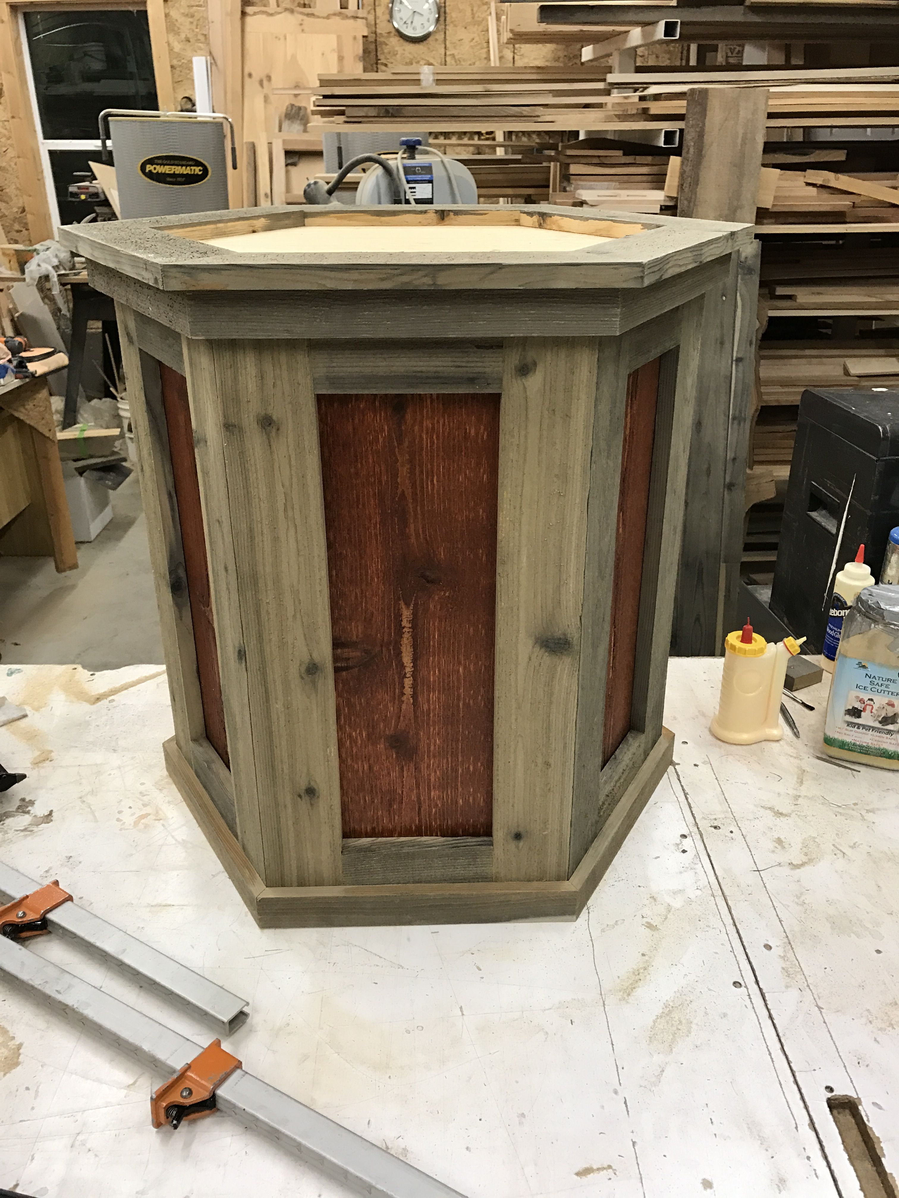 Check out this reclaimed taxidermy pedestal made
