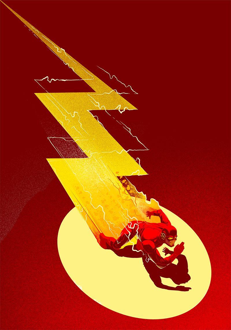 The Flash Affiche Super Heros Univers Dc Heros