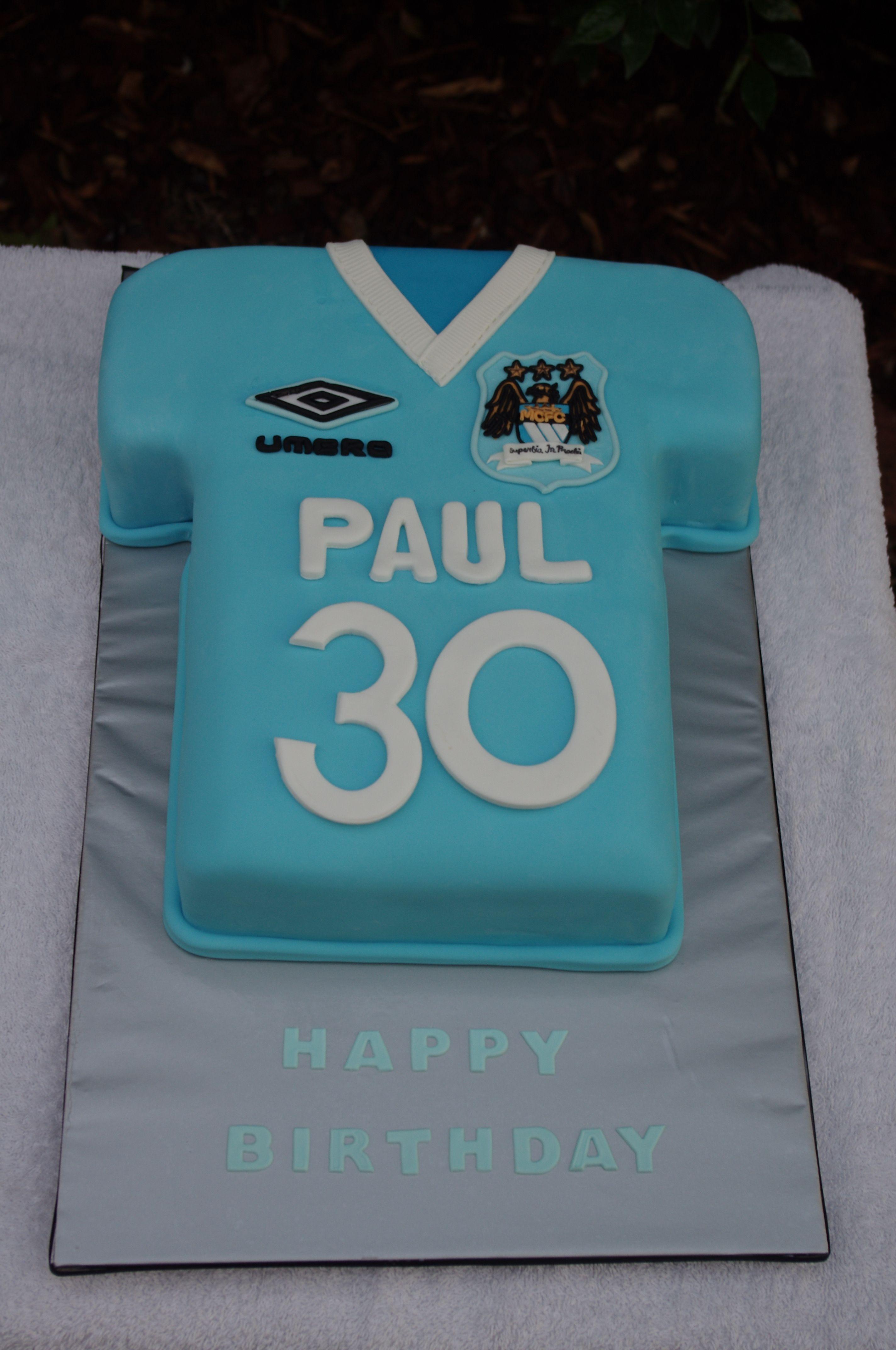 Manchester City Jersey Cake