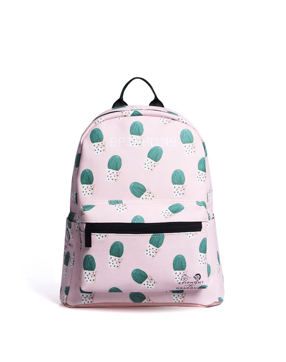 AdoreWe  VIPme Backpacks - EPIPHQNY Cactus Pattern Printing Cute Mini PU  Backpack - AdoreWe.com 7121adc9a2