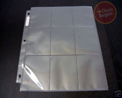 50 BCW Trading Ultra Storage PRO Card Sleeve Storage Pages 9 POCKET Page Holder
