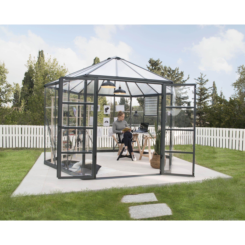 Serre De Jardin Hexagonale Oasis Palram 8 6m2 Serre Jardin Maison Verte Jardins