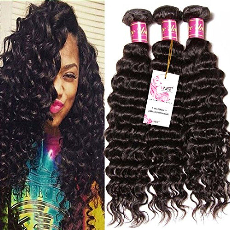 Unice Hair Good Quality Peruvian Virgin Hair Deep Wave 3 Bundles Real Human Hair Weft Extensions Natural Color 95 1 Human Hair Wefts Unice Hair Real Human Hair