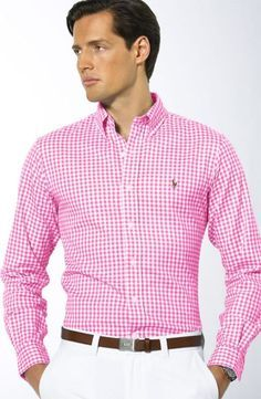 Sure me in a pink check shirt not going to look we think hie ...