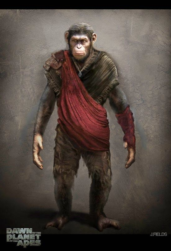 Awesome Dawn Of The Planet Of The Apes Concept Art Planet Of The Apes Dawn Of The Planet Monkey Art