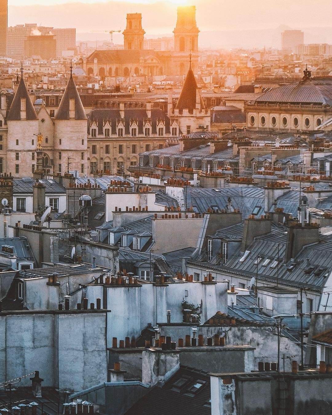 Soft Light Over The Roofs Of Paris Paris Around The Worlds