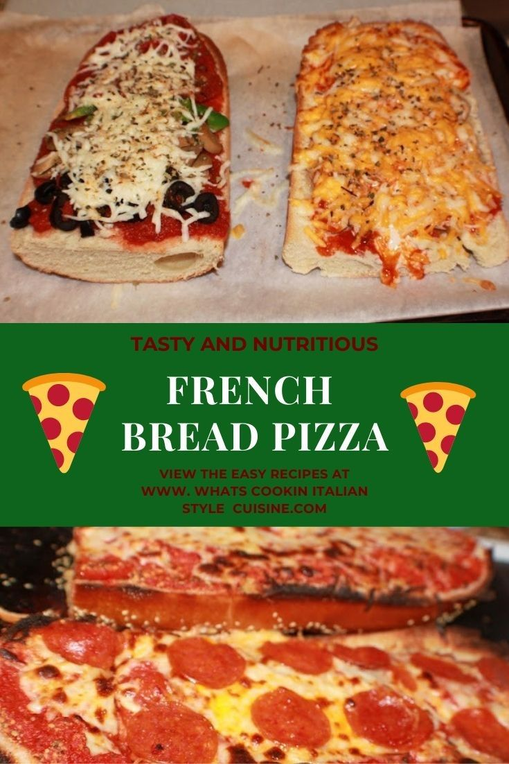 French Bread Pizza | Recipe | French bread pizza, Food ...