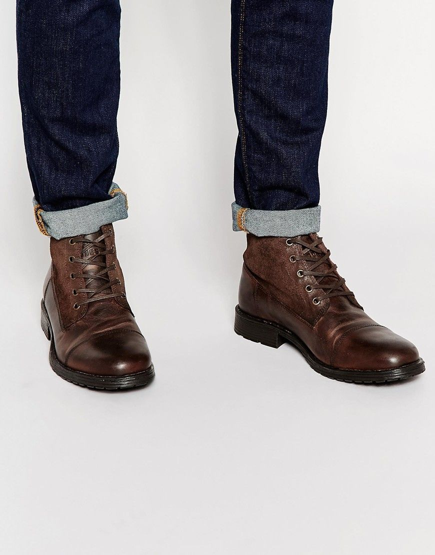 Jack & Jones Kingsley Leather/Suede Boots