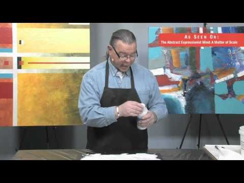 how to create texture on canvas with gesso