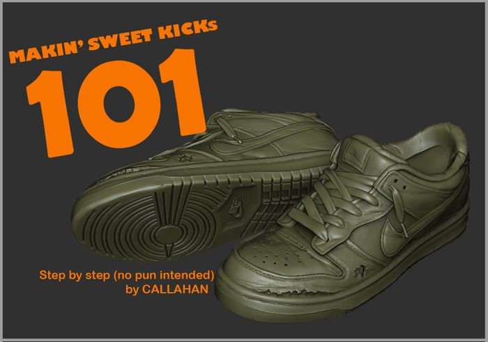 zBrush shoes tutorial by Callahan - for all steps visit the original