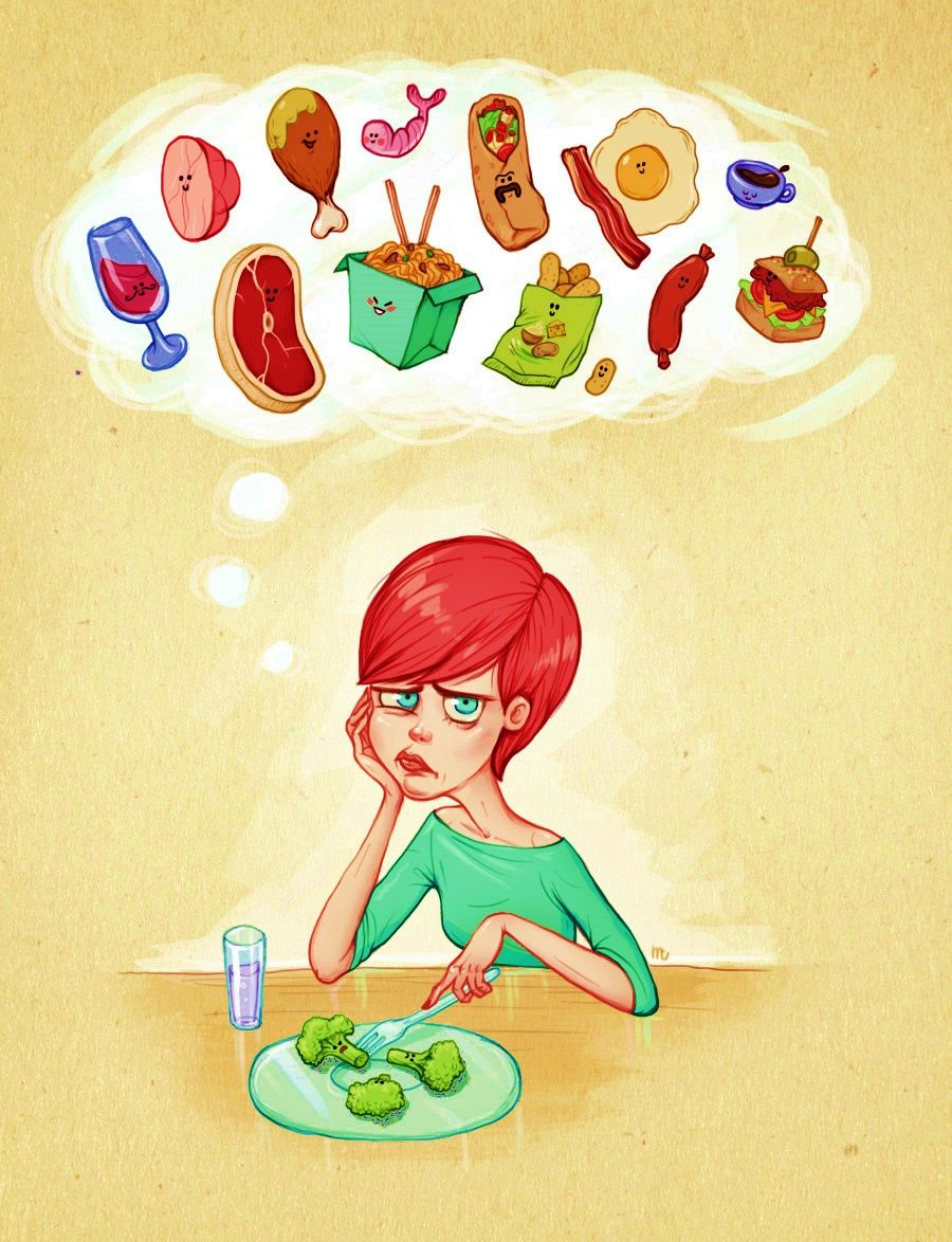 Картинки про похудение еда