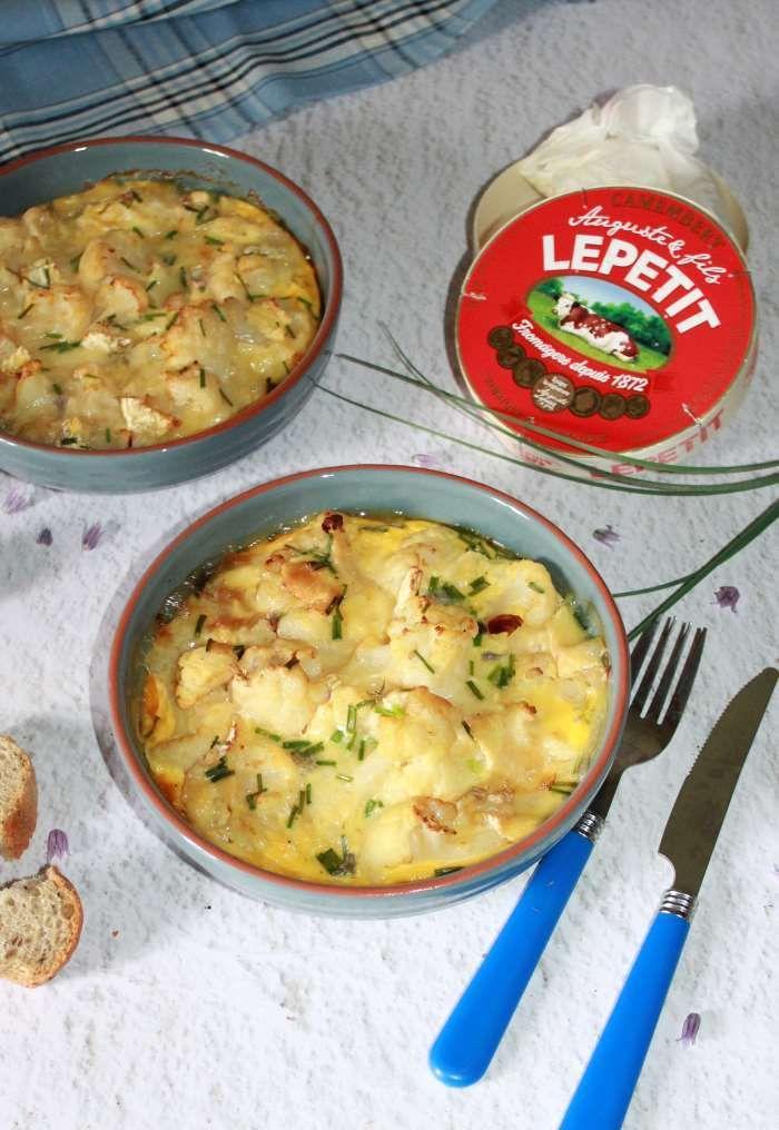 Flan de chou fleur ,ciboulette et camembert   Recettes de ...