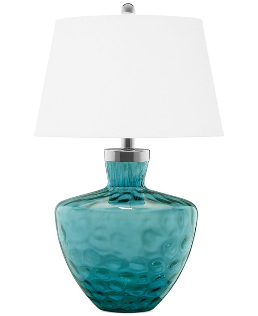 Sea Lamps: Pacific Coast Turquoise Sea Glass Table Lamp