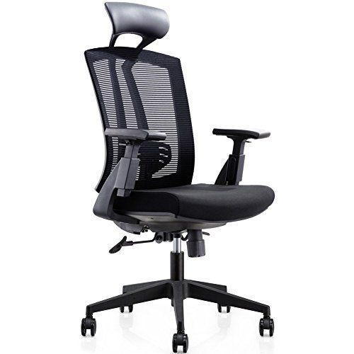 Cmo 24 Hour High Back Mesh Office Reclining Ergonomic Chair With Leather Headrest And Flexible Pu Armrest Big Tall Modern Exect Ergonomic Chair Chair Headrest