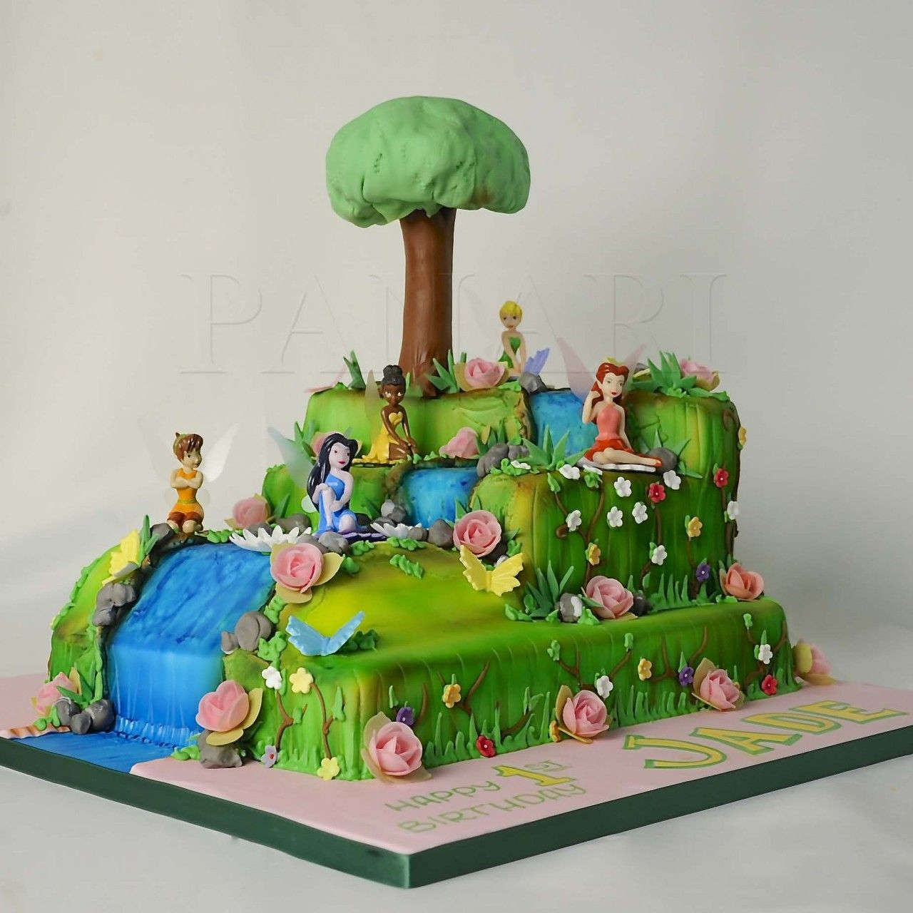 TINKERBELLS ENCHANTED FOREST CAKE CI0527 Panari Cakes Novelty