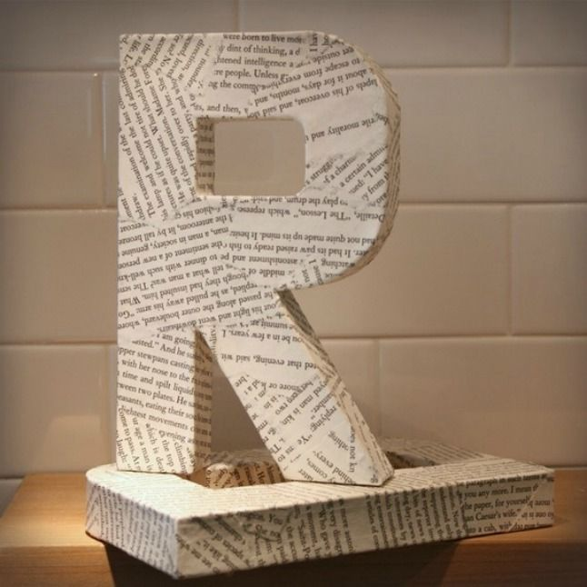 14 Ways To Decorate Cardboard Letters Tomato Boots Cardboard Letters Letter A Crafts Decoupage Letters