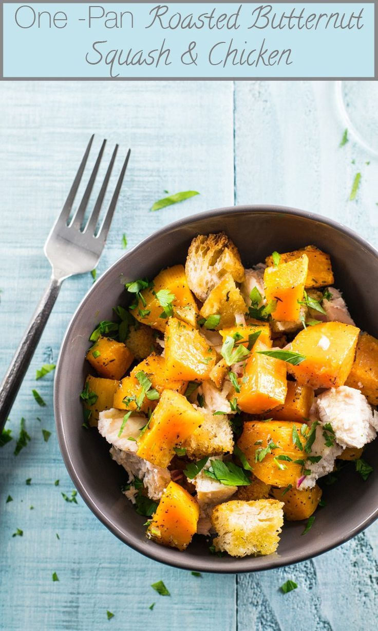 One-Pan Roasted Butternut Squash Tray Dinner