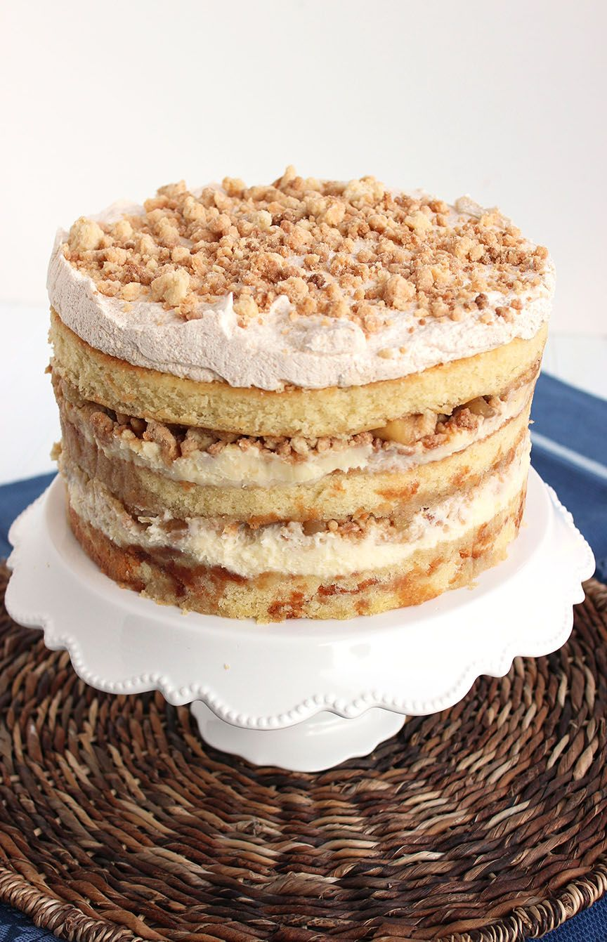 Apple Pie Layer Cake Recipe Cakes Pinterest Cake Pie And