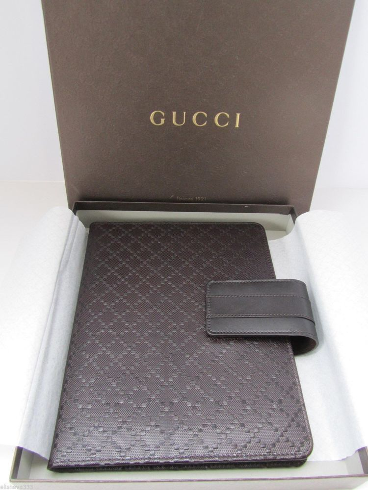 81031850cb2c Gucci iPad Case Brown Diamante Leather Tablet Sleeve Protector #Gucci