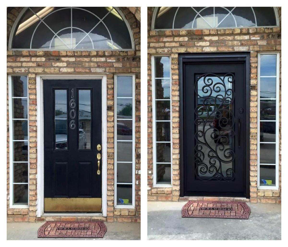 Pledger Iron Door Company   Before And After.
