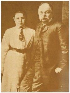 M. Cvetaeva con il padre, 1905 ca