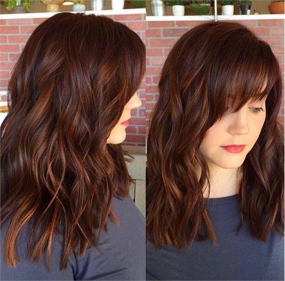 Auburn Hair Color With Lowlights Dark Auburn Hair Color Hair Color Auburn Hair Styles