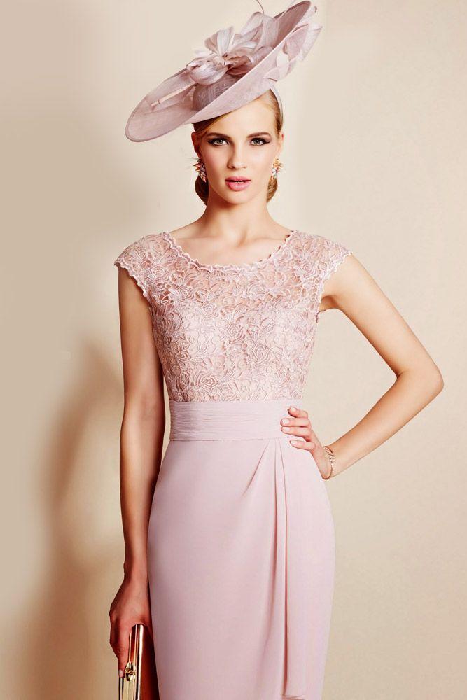 Ronald Joyce 991010 Lace Liqu Dress Jacket In Shrimp Pink Joycemother Of The Bridebride